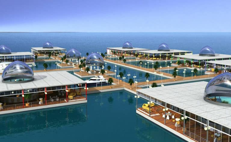 What We Do Best: Floating shopping center